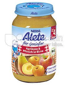 Produktabbildung: Nestlé Alete für Genießer Aprikose & Pfirsich in Birne 190 g