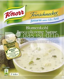 Produktabbildung: Knorr Feinschmecker Blumenkohl Broccolicreme Suppe fettarm 500 ml