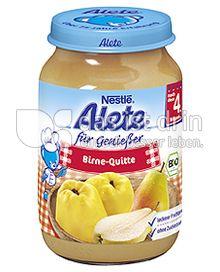 Produktabbildung: Nestlé Alete für Genießer Birne-Quitte 190 g