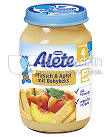 Produktabbildung: Nestlé Alete Pfirsich & Apfel mit Babykeks 190 g