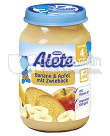 Produktabbildung: Nestlé Alete Banane & Apfel mit Zwieback 190 g
