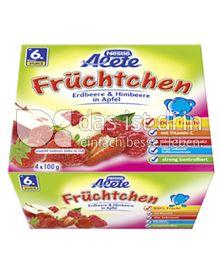 Produktabbildung: Nestlé Alete Früchtchen Erdbeere & Himbeere in Apfel 400 g