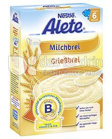 Produktabbildung: Nestlé Alete Milchbrei Grießbrei 450 g