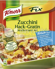 Produktabbildung: Knorr Fix Zucchini Hack-Gratin Mediterrane Art 47 g