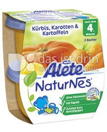 Produktabbildung: Nestlé Alete NaturNes Kürbis, Karotten & Kartoffeln 260 g
