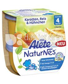 Produktabbildung: Nestlé Alete NaturNes Karotten, Reis & Hühnchen 400 g