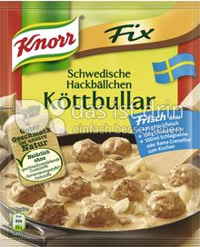 Produktabbildung: Knorr Fix Schwedische Hackbällchen Köttbullar 49 g