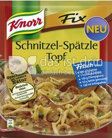 Produktabbildung: Knorr Fix Schnitzel-Spätzle Topf 48 g