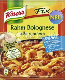Produktabbildung: Knorr Fix Rahm Bolognese alla mamma 49 g