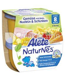 Produktabbildung: Nestlé Alete NaturNes Gemüse mit Mais, Nudeln & Schinken 400 g