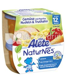 Produktabbildung: Nestlé Alete NaturNes Gemüse mit Paprika, Nudeln & Truthahn 400 g
