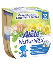 Produktabbildung: Nestlé Alete NaturNes Gemüse mit Erbsen, Kartoffeln & Forelle 400 g