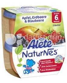 Produktabbildung: Nestlé Alete NaturNes Apfel, Erdbeere & Blaubeere 260 g