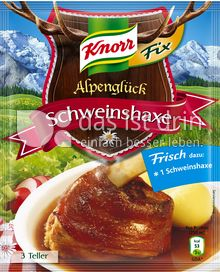 Produktabbildung: Knorr Alpenglück Fix Schweinshaxe