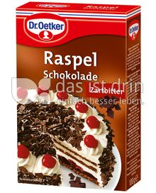 Produktabbildung: Dr. Oetker Raspelschokolade Zartbitter 100 g