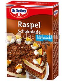 Produktabbildung: Dr. Oetker Raspelschokolade Vollmilch 100 g
