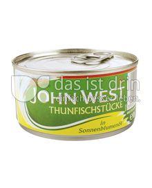Produktabbildung: John West Thunfischstücke in Sonnenblumenöl 185 g