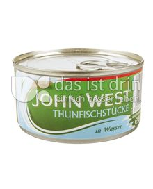 Produktabbildung: John West Thunfischstücke in Wasser 185 g