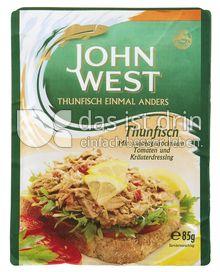Produktabbildung: John West Thunfisch mit sonnengetrockneten Tomaten und Kräuterdressing 85 g
