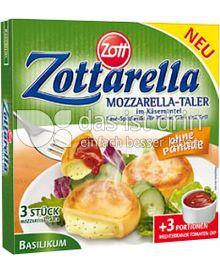 Produktabbildung: Zott Zottarella Mozzarella-Taler Basilikum 231 g