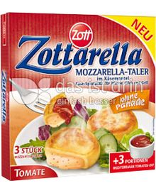 Produktabbildung: Zott Zottarella Mozzarella-Taler Tomate 231 g