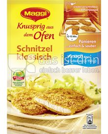 Produktabbildung: Maggi Knusprig aus dem Ofen Schnitzel klassisch 120 g
