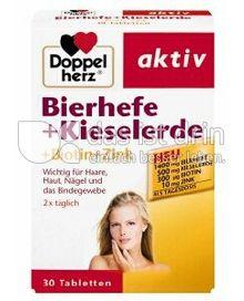 Produktabbildung: Doppelherz aktiv Bierhefe + Kieselerde + Biotin + Zink 37,2 g