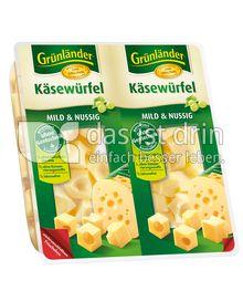 Produktabbildung: Grünländer Käsewürfel Mild & Nussig 150 g