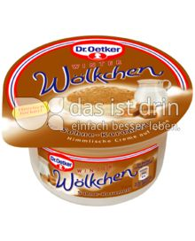 Produktabbildung: Dr. Oetker Winter-Wölkchen Sahne-Karamell 125 g