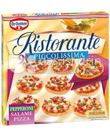 Produktabbildung: Dr. Oetker Ristorante Piccolissima Pizza Pepperoni-Salame 255 g