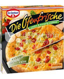 Produktabbildung: Dr. Oetker Die Ofenfrische Pizza Peperoni-3 Käse 395 g