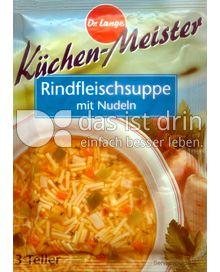 Produktabbildung: Küchen-Meister Rindfleischsuppe mit Nudeln 80 g