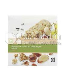 Produktabbildung: Albert Heijn puur & eerlijk biologische noten en zadenrepen naturel 120 g