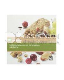 Produktabbildung: Albert Heijn puur & eerlijk biologische noten en zadenrepen cranberry 120 g