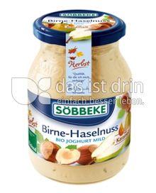 Produktabbildung: Söbbeke Birne-Haselnuss Bio Joghurt Mild 500 g