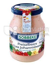 Produktabbildung: Söbbeke Preiselbeere Rote Johannisbeere Bio Joghurt Mild 500 g