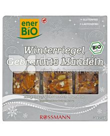 Produktabbildung: enerBIO Winterriegel Gebrannte Mandeln 75 g