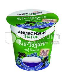 Produktabbildung: Andechser Natur Bio-Joghurt auf Frucht Heidelbeere-Cassis 150 g