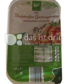 Produktabbildung: Aldi bio Feine Bratstreifen Gartengemüse 180 g