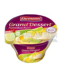 Produktabbildung: Ehrmann Grand Dessert Käsekuchen Zitrone-Limette 130 g