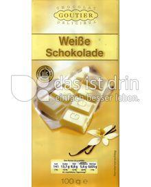 Produktabbildung: Chocolat Goutier Delicieux Weiße Schokolade 100 g
