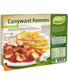 Produktabbildung: Prima Menü Currywurst Pommes 350 g