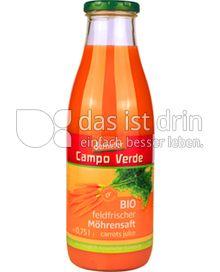 Produktabbildung: Campo Verde Bio feldfrischer Möhrensaft 0,75 l