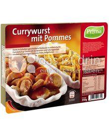 Produktabbildung: Prima Menü Currywurst mit Pommes 350 g