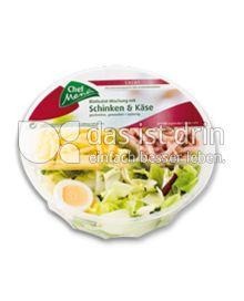 Produktabbildung: Chef Menü Blattsalat-Mischung mit Schinken & Käse 200 g