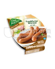 Produktabbildung: Chef Menü Wirt z'Haus Frankfurter Würstel 330 g
