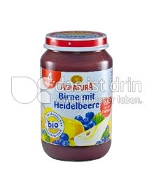 Produktabbildung: Alnatura Birne mit Heidelbeere 190 g
