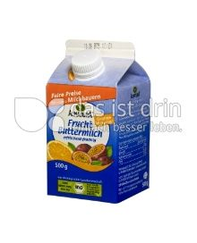 Produktabbildung: Alnatura Frucht-Buttermilch Orange-Maracuja 500 g