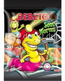 Produktabbildung: BEBETO Bebeto Sour Worms - Halal 80 g