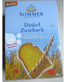 Produktabbildung: Sommer Dinkel Zwieback 200 g
